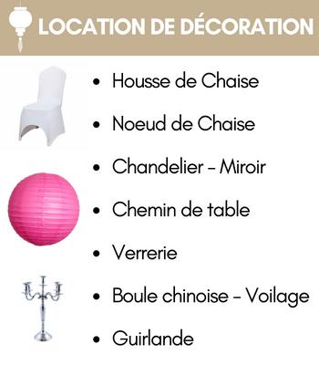Location de decoration