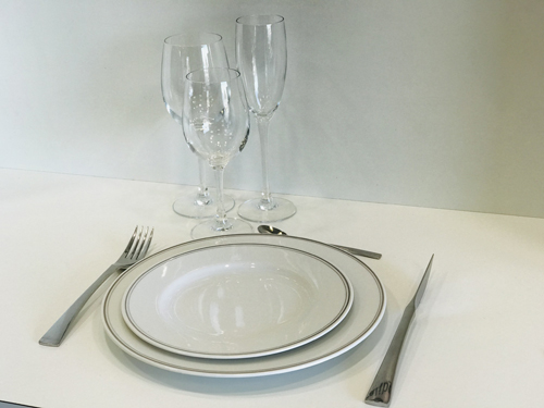 Assiettes gamme filet gris ls reception ile d oleron la rochelle niort saintes royan ile de re charente maritime