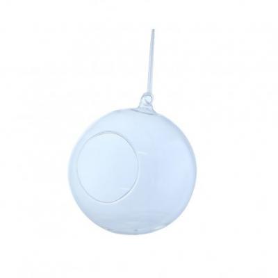 Boule en verre diametre 12cm a suspendre