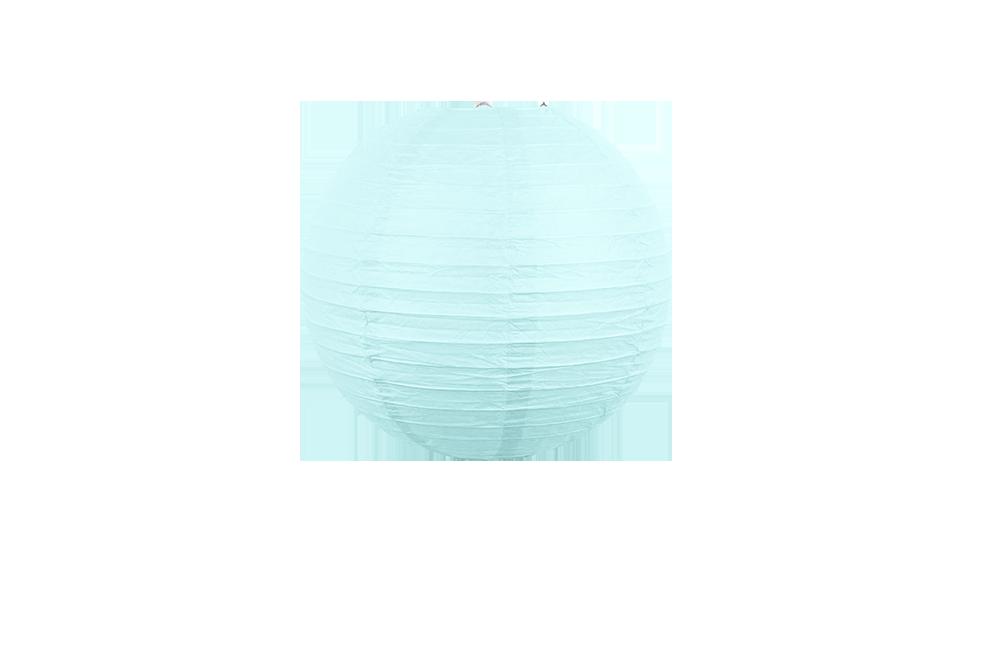 Boule papier 30cm aqua marine