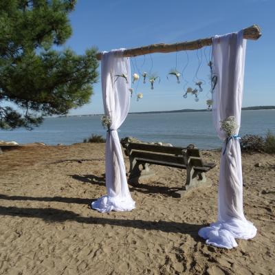 Cérémonie du sable soliflore Plage de Gatseau Oléron 9
