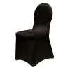 Housses de chaises universelles noires 500x500
