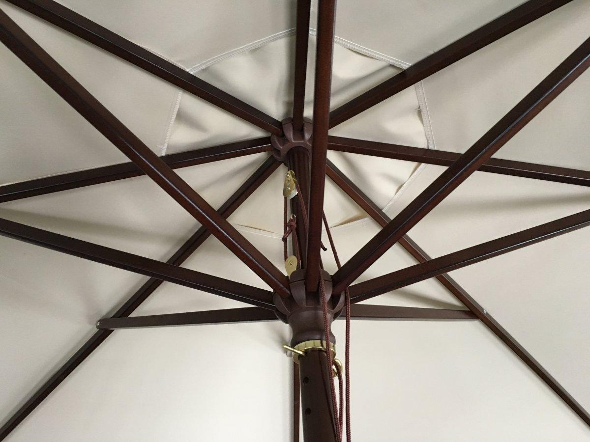 Interieur parasol bois 3m