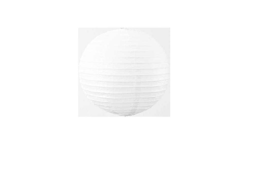 Lampion boule papier 30cm blanc