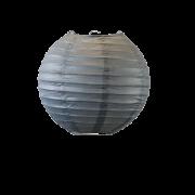 Lampion boule papier 30cm gris