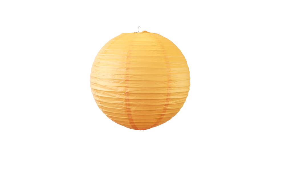 Lampion boule papier 30cm orange