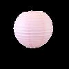 Lampion boule papier 30cm rose pale 1