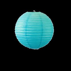 Lampion boule papier 30cm turquoise