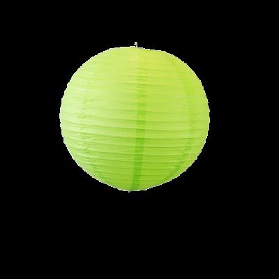 Lampion boule papier 30cm vert
