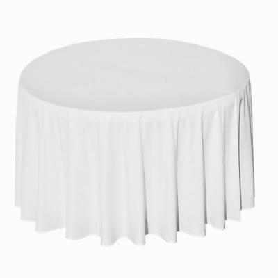 Nappe ronde polyester blanche 290cm