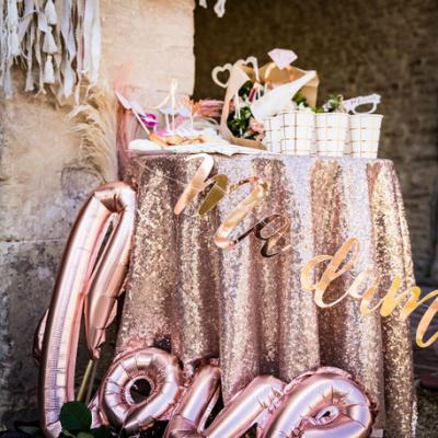 Nappe seqins rose gold