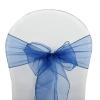 Noeuds de chaise organza bleu marine 500x500
