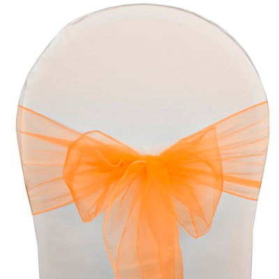 Noeuds de chaise organza orange 500x569