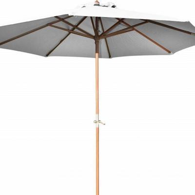Parasol bois exotique diametre 3m jpg ecru 1