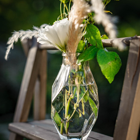 Vase verre origami 16x8 5 mise en scene